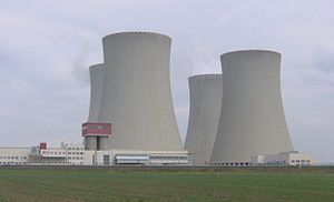 Temelín Nuclear Power Station - Cooling towers at Temelin NPP