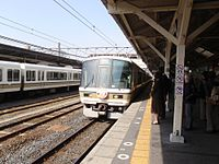 JNR 221 at Oji Station, Nara 20100430 (4563860481).jpg