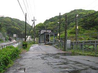 Namegawa Island Station Railway station in Katsuura, Chiba Prefecture, Japan