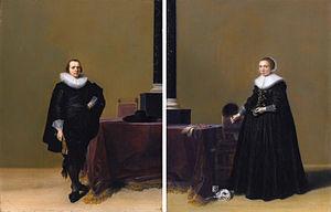 Hendrik Gerritsz Pot - Jacob van de Merckt and his wife Petronella Witsen (ca. 1628)