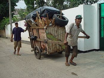 English: Slum life, Jakarta Indonesia.