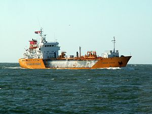 Jakob Kosan (IMO 8325327) approaching Port of Rotterdam, Holland 15-Jul-2006.jpg