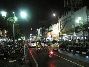 Jalan Malioboro - Jalan Malioboro at night