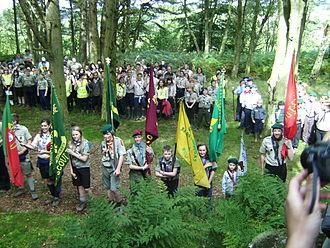 Jamboree 2008 (Northumberland) - Jamboree members celebrating the centenary of B-P's first camp at Carr Edge