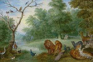 Paradise with the Fall of Adam and Eve