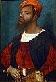 """""""Portræt af en afrikansk mand"""" af Jan Mostaert, omkring 1525/30"""