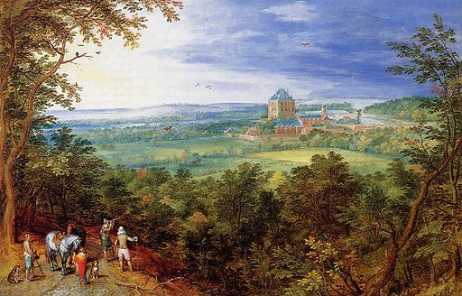 Jan il Vecchio Bruegel Landscape with the Chateau de Mariemont