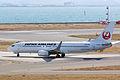 Japan Air Lines ,JL2505 ,Boeing 737-846 ,JA348J ,Departed to Sapporo ,Kansai Airport (16624141249).jpg