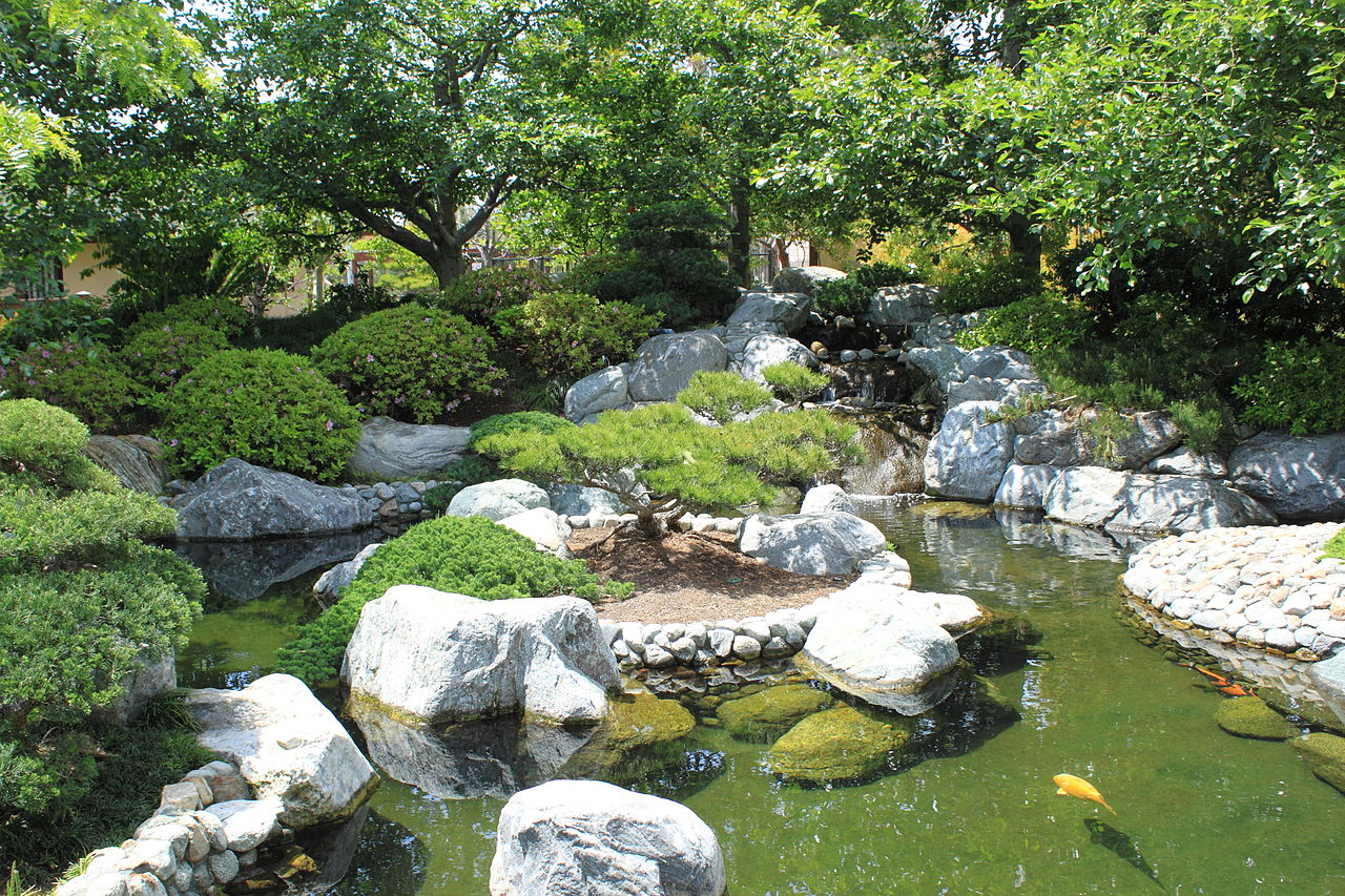 File japanese friendship garden path koi pond 2 jpg for Japanese koi pond garden
