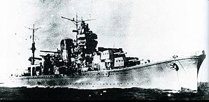 Japanese cruiser Agano - Image: Japanese cruiser Agano