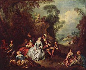 Jean-Baptiste Pater - Die Freuden des Landlebens by Jean-Baptiste Pater, c. 1730–35