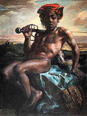 Young black boy with a sword