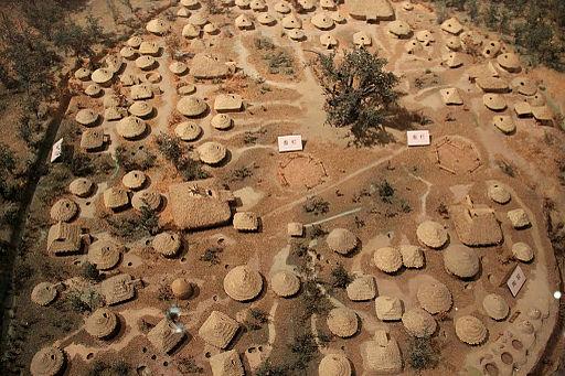 Jiangzhai settlement model, Yangshao culture, Lintong, Shaanxi