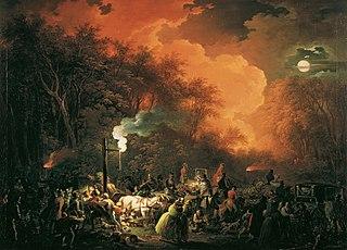 Das Ende des Stuwerschen Feuerwerkes am 7. Mai 1833