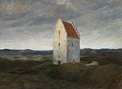 Johannes Wilhjelm, Skagens gamle kirke. Nat, 1910. SKM1393, Skagens Kunstmuseer.jpg