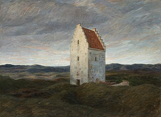 The old church of Skagen. Night