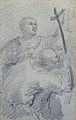 Johannot T. attr. - Pencil - Scène religieuse (deux saints?) - 10.9x17.2cm.jpg