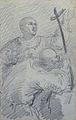 Johannot T. attr. - Pencil - Scène religieuse (deux saints?) - 10.9x17.2cm.jpg