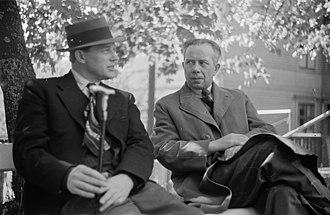 Ivar Lo-Johansson - Harry Martinson and Ivar Lo-Johansson (right)
