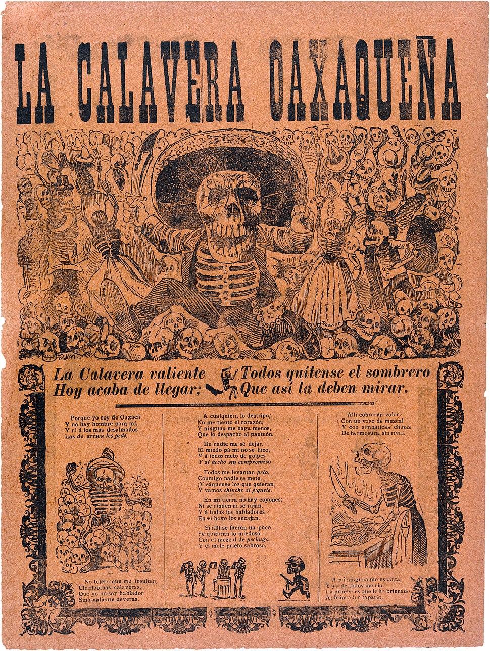 José Guadalupe Posada, Calavera oaxaqueña, broadsheet, 1903