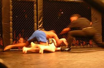 Cedric Marks knocks out Josh 'Bring the Pain' Haynes at the XFC Battlegrounds in San Antonio.