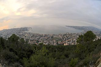 Jounieh - View from Harissa, Lebanon