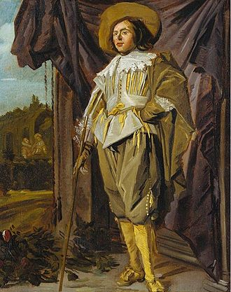 Willem van Heythuysen Posing with a Sword - Standing Cavalier by Judith Leyster