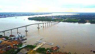 Jules Wijdenbosch Bridge - The Jules Wijdenbosch Bridge on the mouth of the Suriname river in Paramaribo