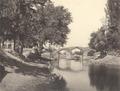 KITLV 100514 - Unknown - Akbar Bridge at the Jhelum and the Dal Lake just outside Srinagar in Kashmir in British India - Around 1870.tif