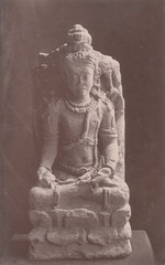 KITLV 87676 - Isidore van Kinsbergen - Sculpture of Shiva from the Dijeng plateau - Before 1900.tif