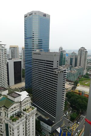Citibank Tower - Menara Citibank with the adjacent Intercontinental Hotel (formerly Nikko Hotel)