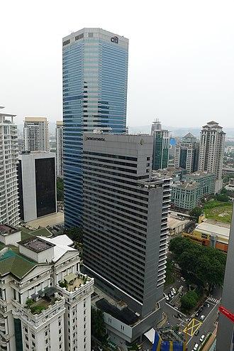 Citibank Tower - Menara Citibank with the adjacent Intercontinental Hotel (formerly Nikko Hotel)