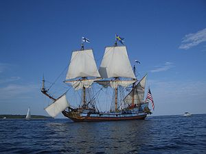 Kalmar Nyckel - Image: Kalmar Nyckel Chesapeake Bay