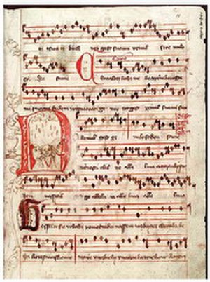 Hymnal - Jistebnice hymn book, a Czech hand-written hymnbook from around 1430