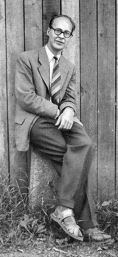 Karl Vennberg omkring 1960