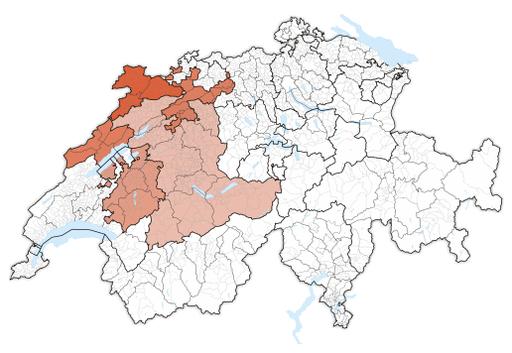 Karte Espace Mittelland 2017