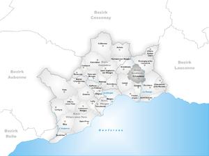 Échandens - Image: Karte Gemeinde Echandens