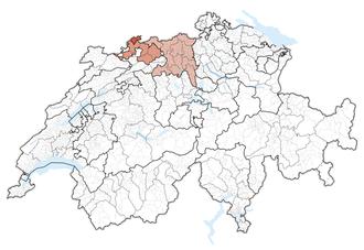 Northwestern Switzerland - Image: Karte Nordwestschweiz 2013.2