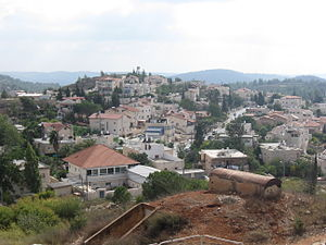 Mevaseret Zion - View of Maoz Zion from Castel National Park