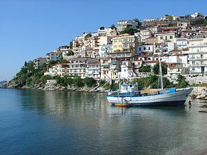 View of Kavala, Greece.