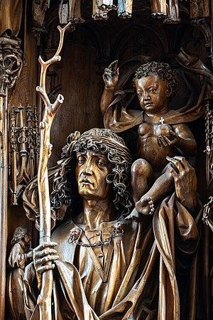 Kefermarkt Kirche Flügelaltar Christophorus 03.jpg