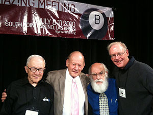 Ray Hyman - Ray Hyman, Paul Kurtz, James Randi, and Ken Frazier at TAM8, July 2010, Las Vegas. After their session on the history of the modern skeptical movement.