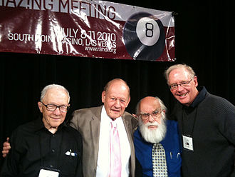 Paul Kurtz - Ray Hyman, Paul Kurtz, James Randi, and Ken Frazier at TAM8, July 2010, Las Vegas, after their session on the history of the modern skeptical movement