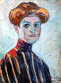 Kernstok Colorful Girl Head 1910.jpg