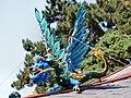 Kew Gardens, Pagoda after restoration, lower blue dragon.jpg