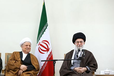 Khamenei and former president, Akbar Hashemi Rafsanjani Khamenei meeting Assembly of Experts members 06.jpg