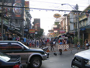 Backpacker's heaven Khaosan Road in Bangkok, T...