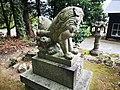 Kikube-Jinjya(Yosano)狛犬 阿 後ろ姿.jpg