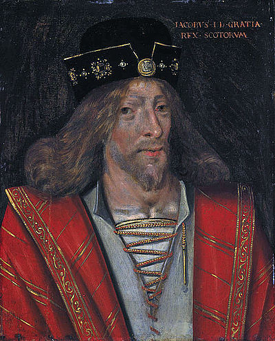 Duke Robert's nephew, James I of Scotland, would wreak his revenge on the Albany Stewarts. King James I of Scotland.jpg
