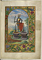 Knight standing on fountains - Splendor Solis (1582), f.7 - BL Harley MS 3469.jpg